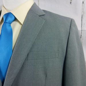 Merona 44R Gray Pinstripe Suit Blazer Sports Coat